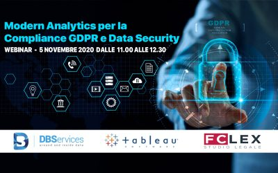 Modern Analytics per la Compliance GDPR a Data Security – 5 novembre 2020